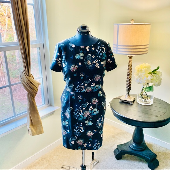 LOFT Dresses & Skirts - LOFT Short Sleeve Floral Midi Dress NWT Size 16